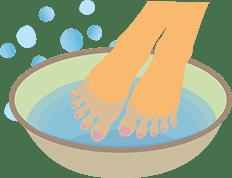足浴の方法